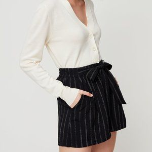 Wilfred Georgette black pin striped short